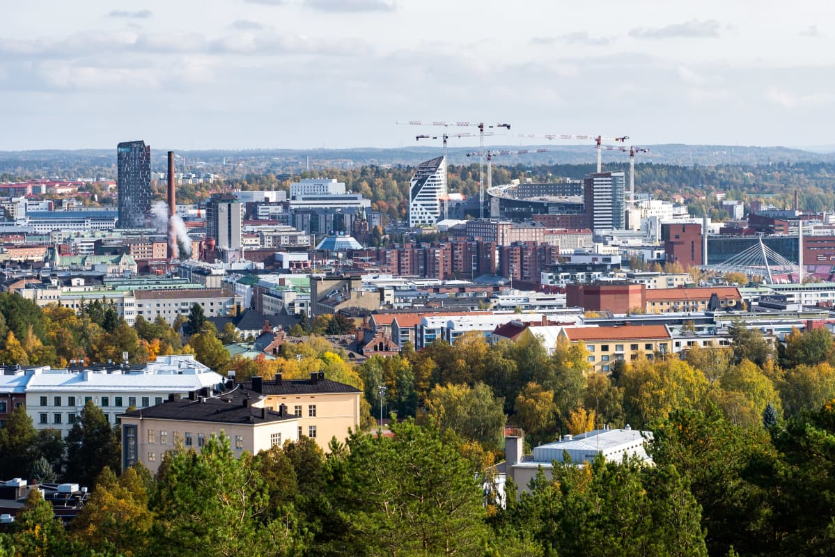 Tampereen areenan rakennustyömaa.