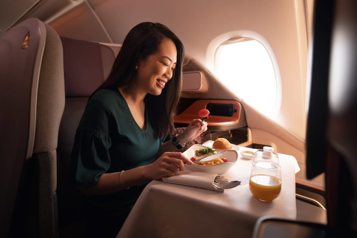 Singapore Airlinesin Airbus A380