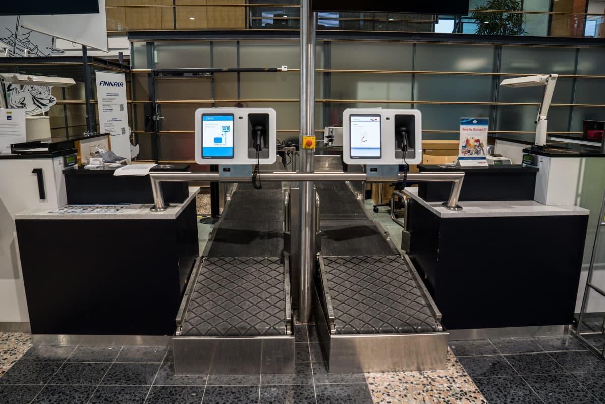matkalaukkuhihna Tampere-Pirkkalan lentoasemalla