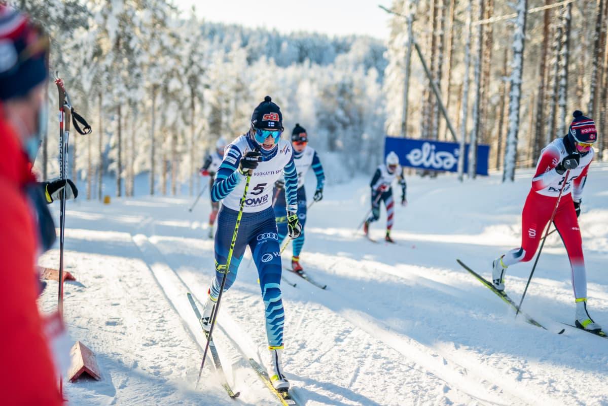 Jasmin Kähärä hiihtää helmikuun MM-kisoissa Vuokatissa