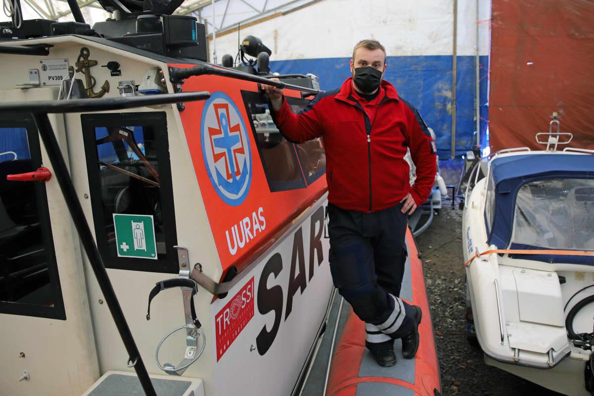Savonlinnalaisen pelastusvene Uuraan pintapelastaja Mikael Fyhr