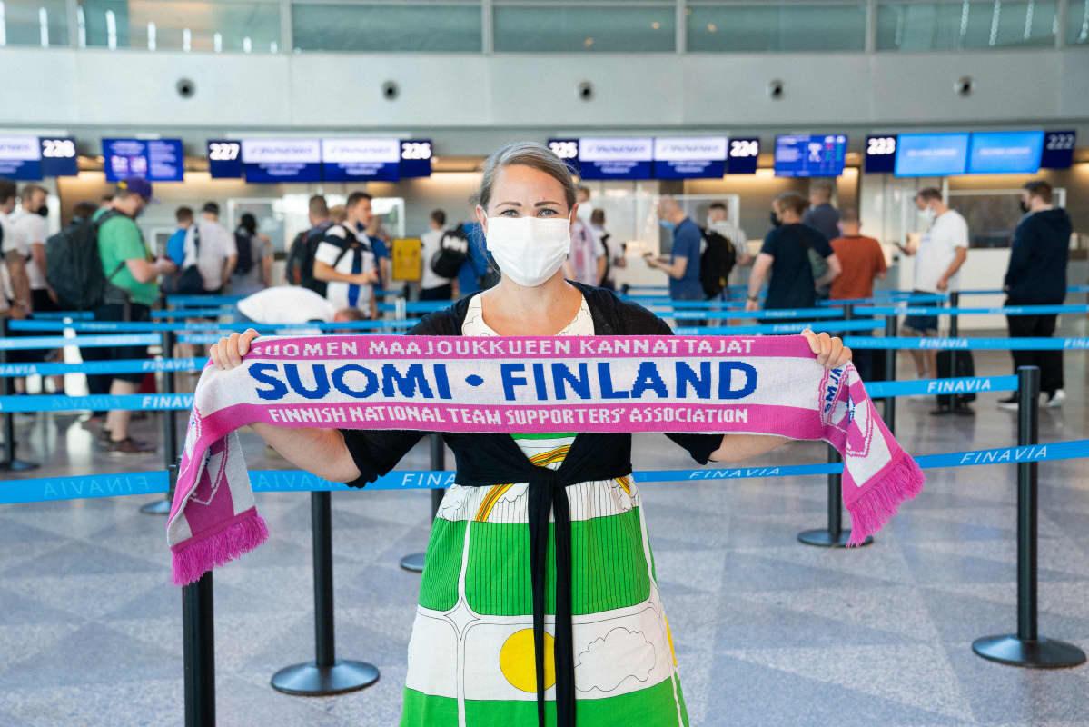 Tamperelainen Mari Vehmanen matkalla EM-kisamatkalle Tanskaan