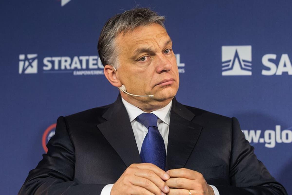 Unkarin pääministeri Viktor Orbán kuvattuna 15. toukokuuta 2014.