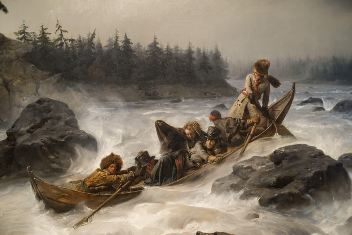 Vaarallisen tuntuiset turistiviihdykkeet olivat Lapissa käytösä jo 1800-luvun alussa.
