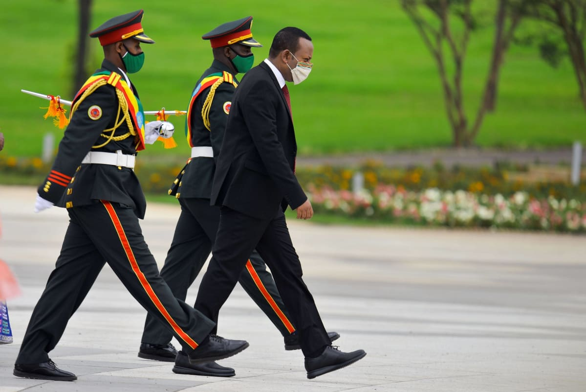Etiopian pääministeri Abiy Ahmed osallistui Ystävyyden aukio -nimisen alueen vihkijäisiin 10. syyskuuta 2020 Etiopian pääkaupungissa Addis Abebassa.
