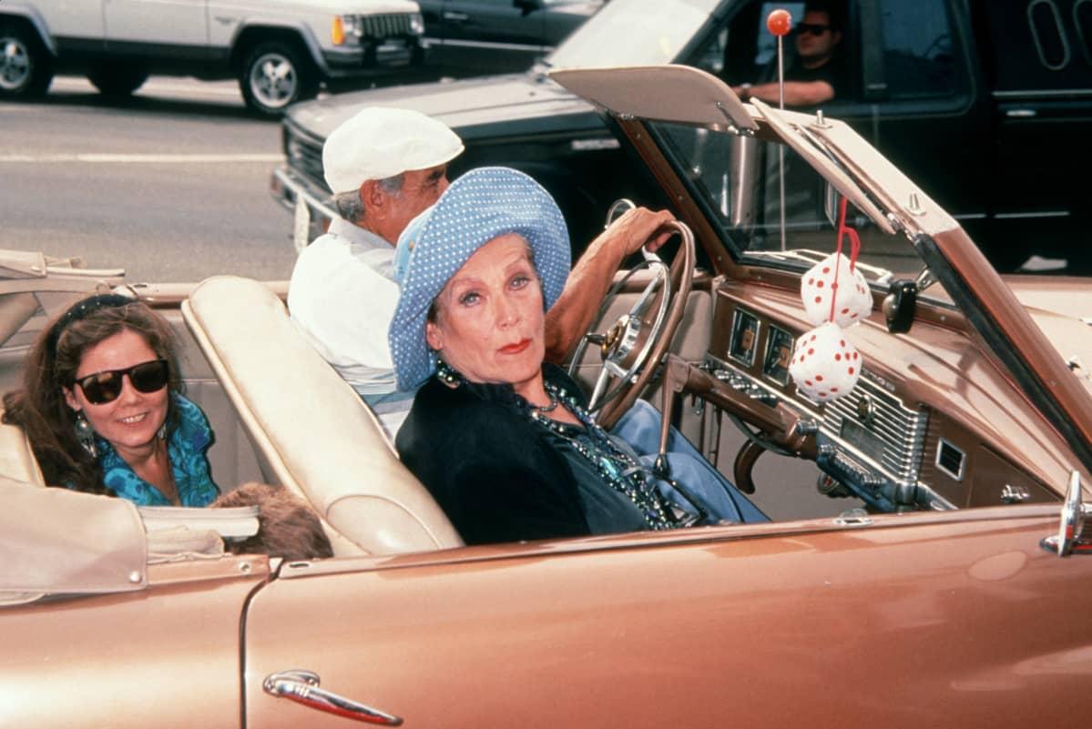 Maila Nurmi avoautossa 1994.