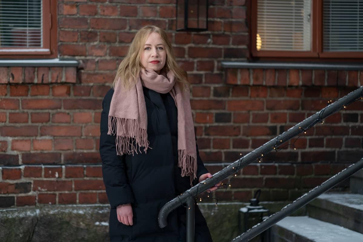 Helsingin yliopiston Viikin normaalikoulun historian ja yhteiskuntaopin opettaja Nina Penttinen, Helsinki, 24.2.2021.