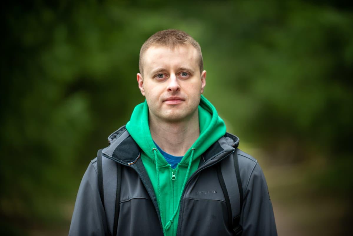 Valkovenäläinen aktiviisti Kiril Kirylaun. 27.4.2021.
