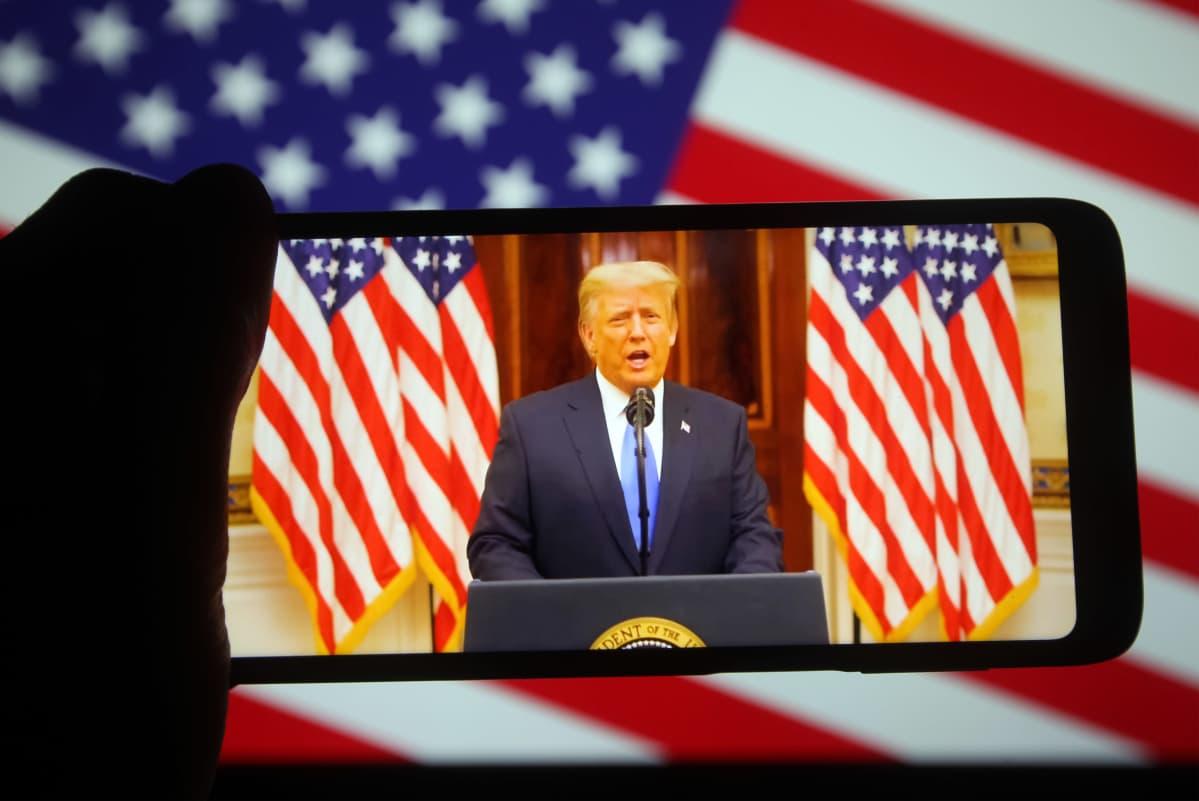 Presidentti Donald Trumpin jäähyväispuhe.