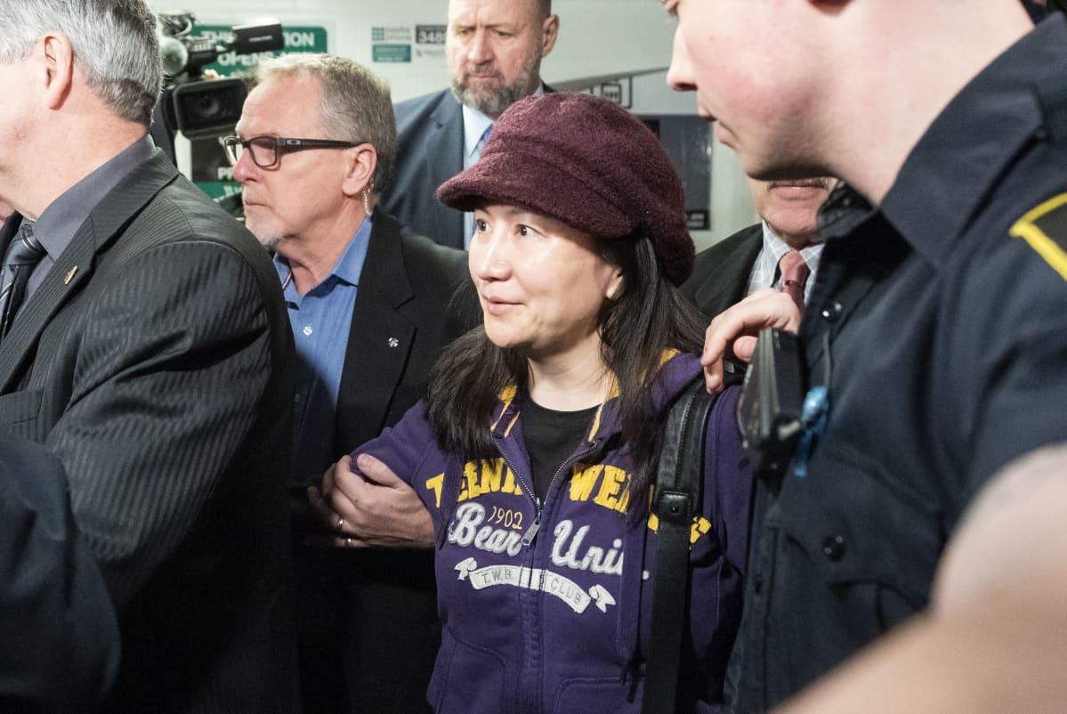 Huawein talousjohtaja Men Wanzhou oikeudessa Kanadassa maaliskuussa.