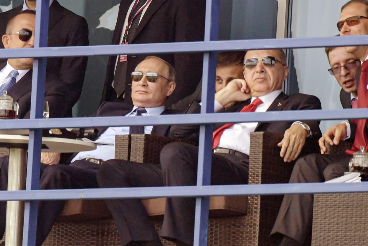 Vladimir Putin ja Recep Tayyip Erdoğan