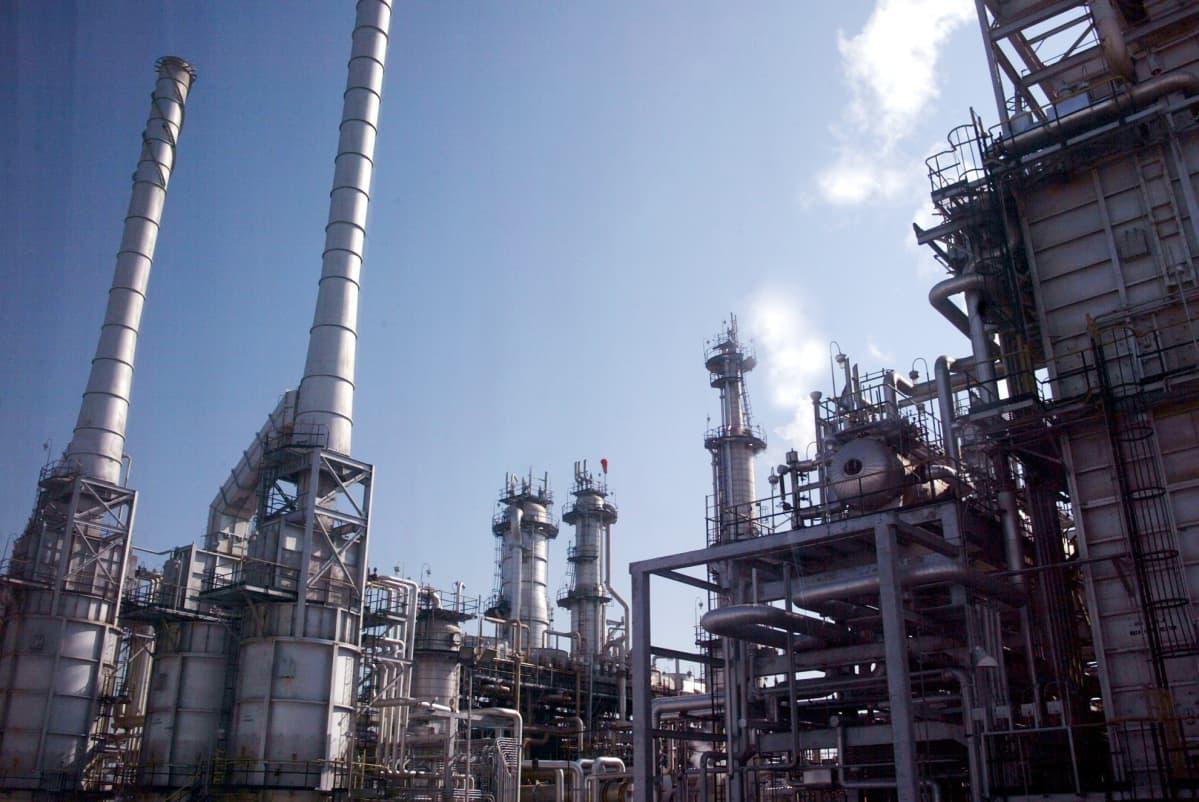 Ras Tannuran öljynporauskenttä Dammamissa, Saudi Arabiassa.