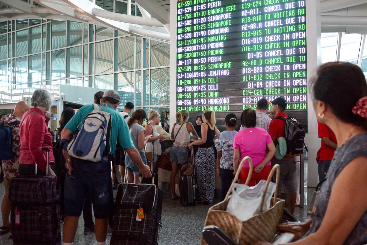 Denpasarin kansainvälisellä lentokentällä 27 marraskuuta.