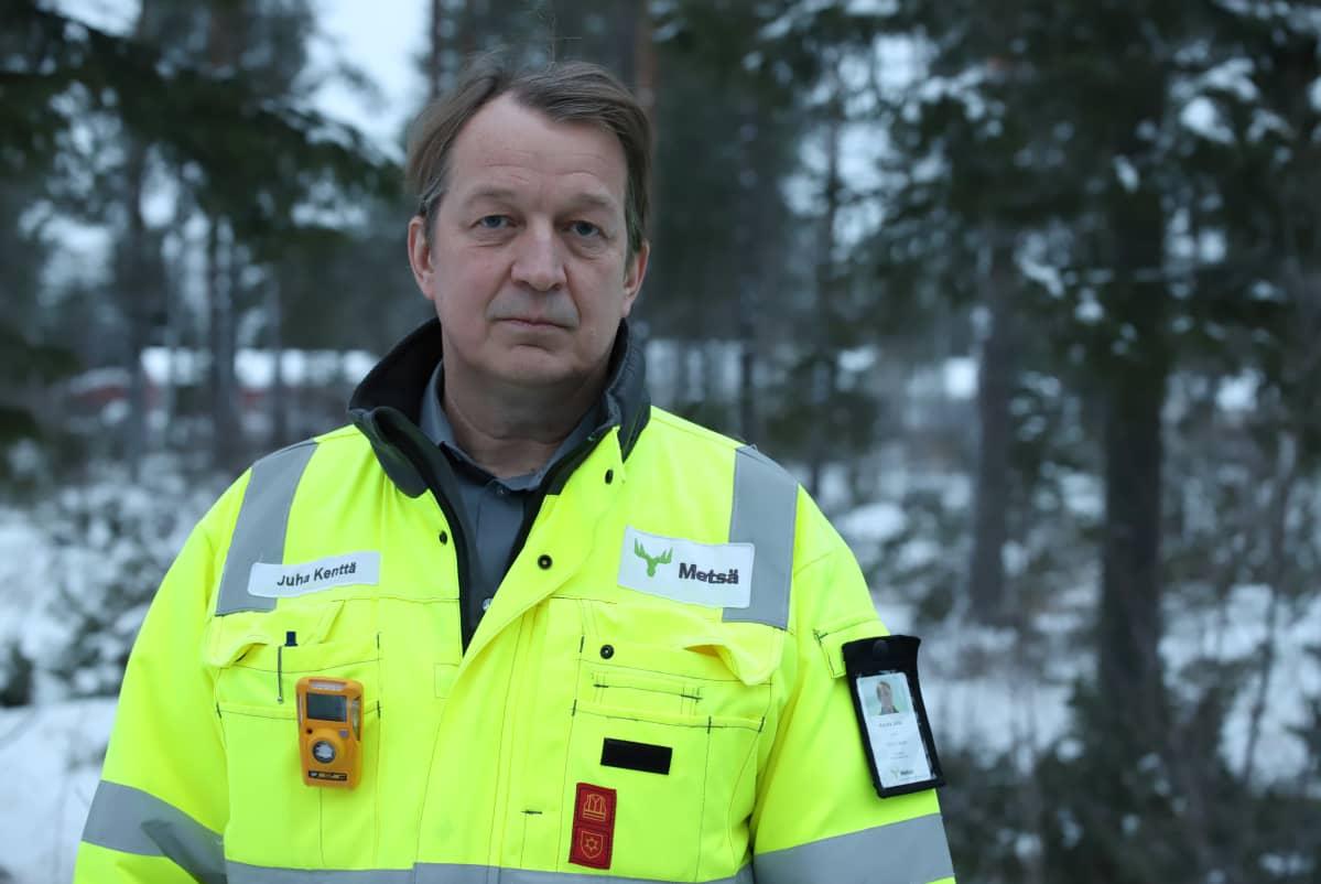 Metsä Groupin Kemin tehtaiden pääluottamusmies Juha Kenttä.