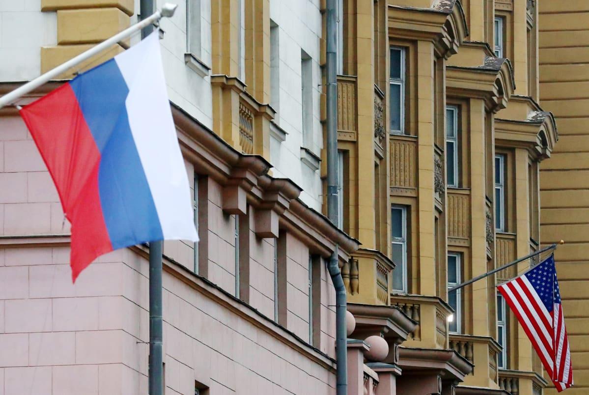 Amerikan suurlähetystö  Moskovassa.
