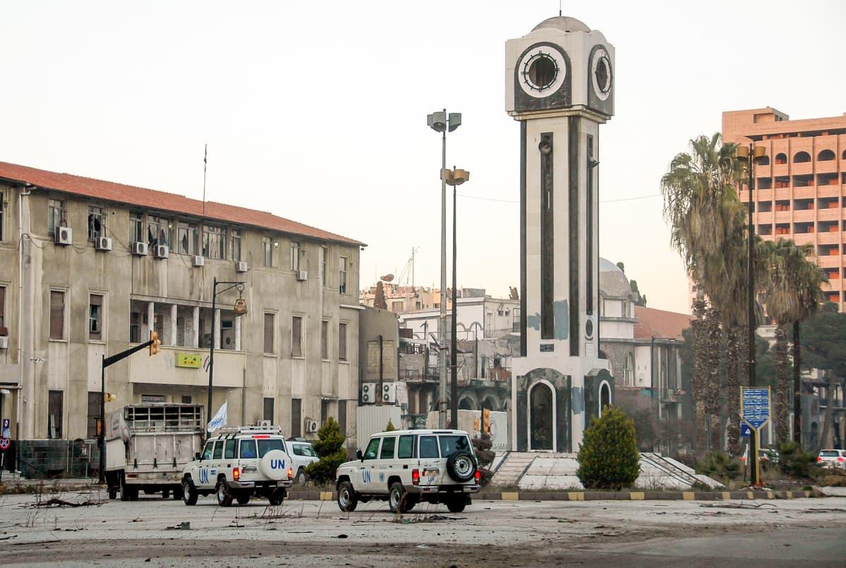 YK avustuskuljetukset Syyria Homs.