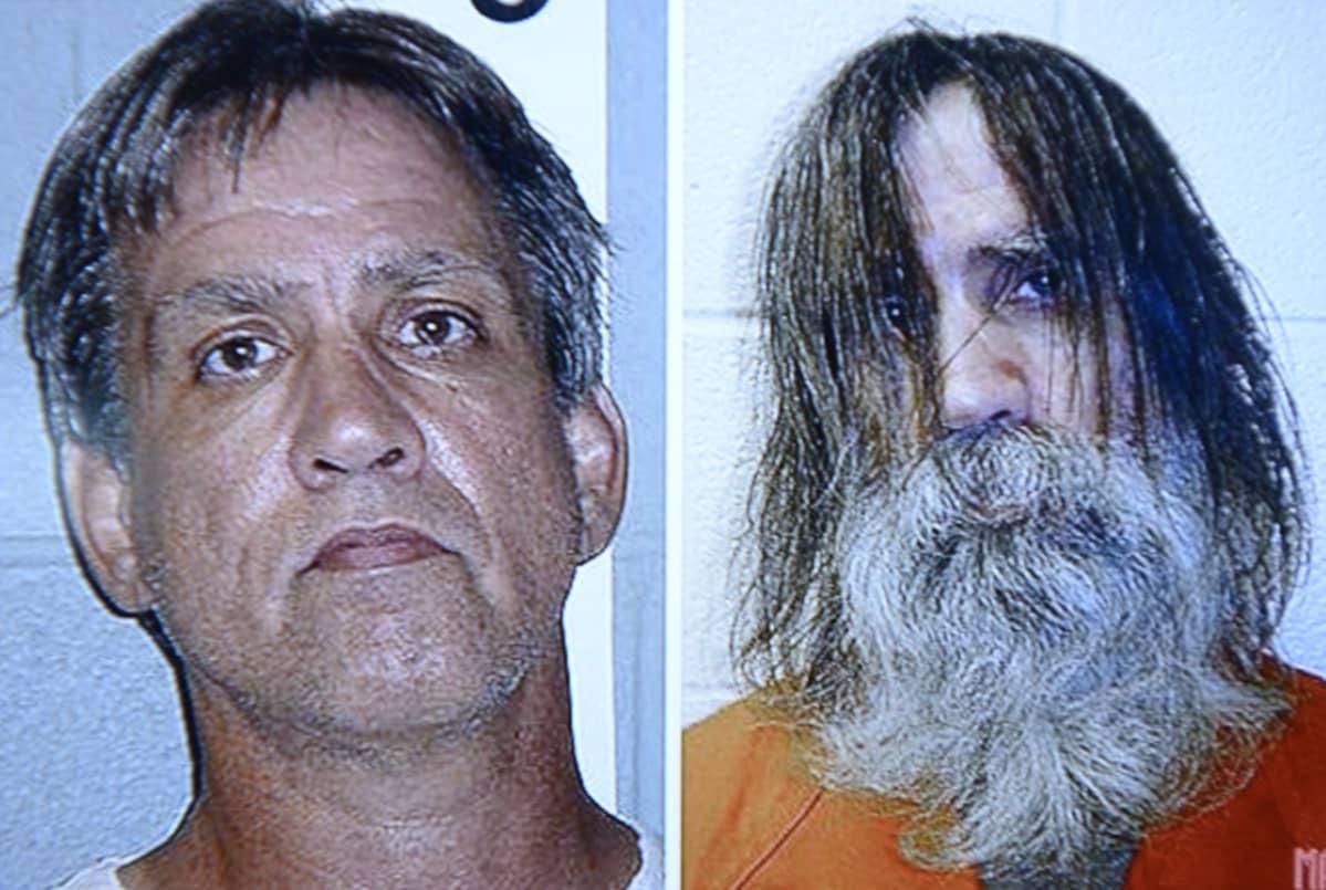 Vasemmalla eristysselliin lähes kahdeksi vuodeksi unohtunut Stephen Slevin pidätyskuvassaan vuonna 2005, ja oikealla vuonna 2007 sen jälkeen kun hänet oli vapautettu eristyksistä.