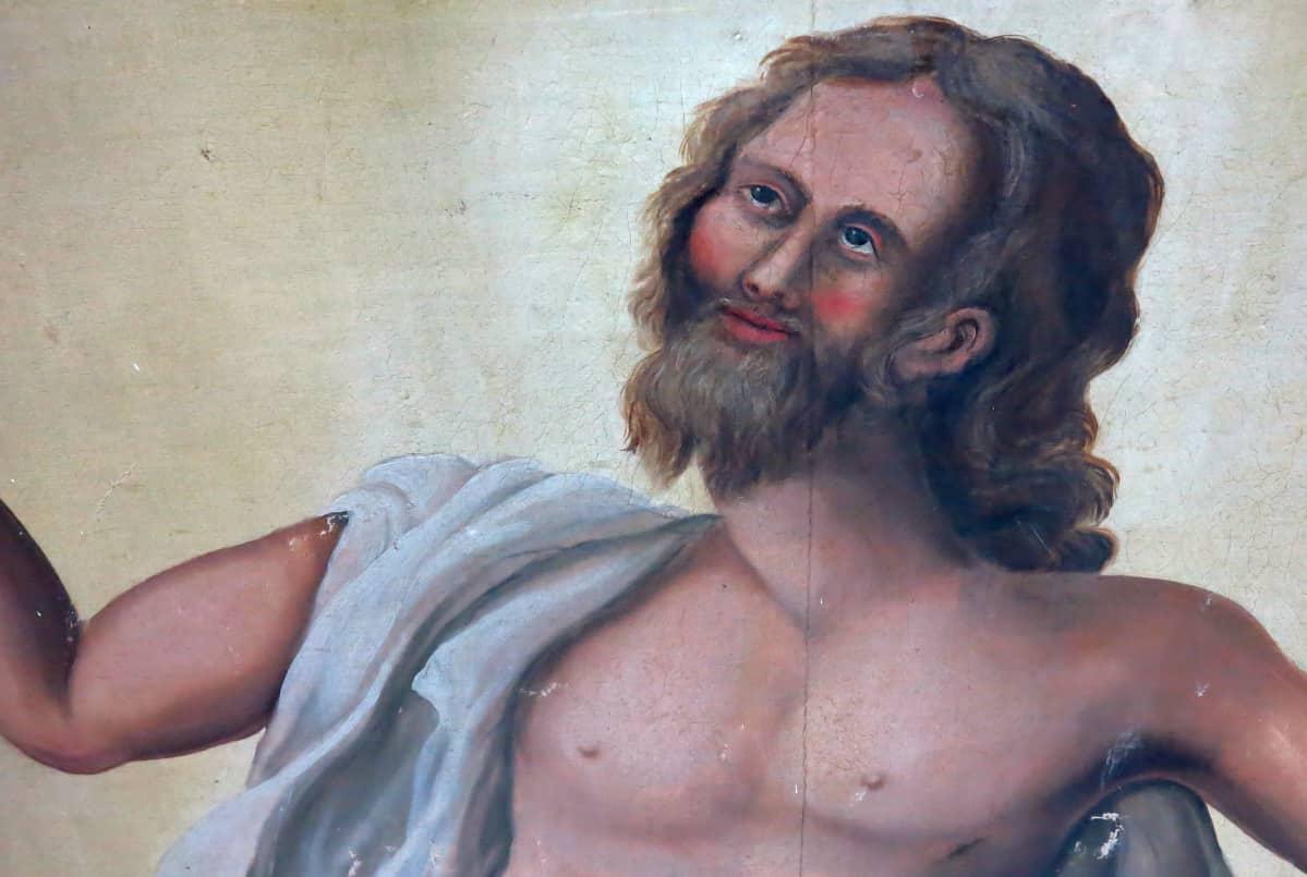 Jeesuksen kasvot alttaritaulussa