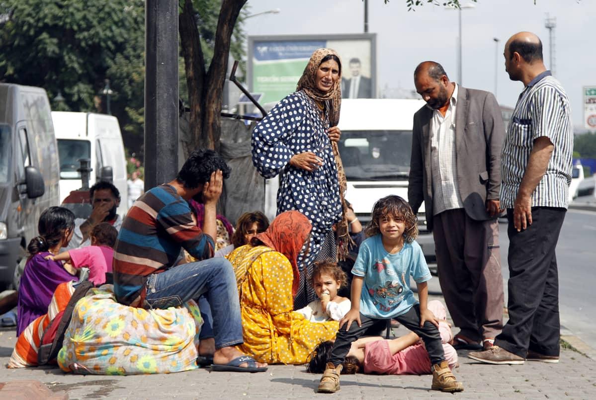 Syyrialaisia pakolaisia Turkissa Istanbulissa vuonna 2014.