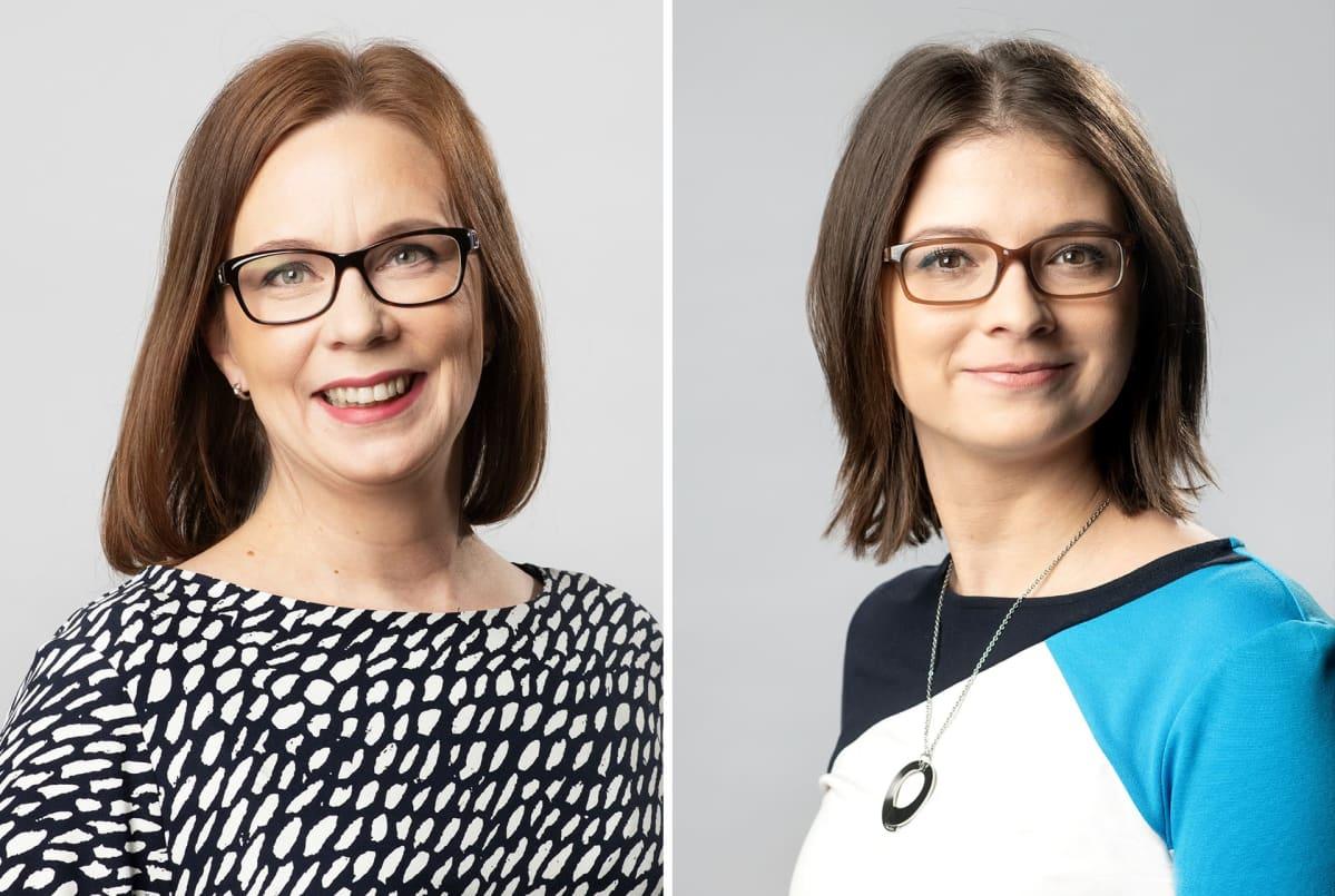 Tietokirjailijat Hanna Silvola ja Tiina Landau