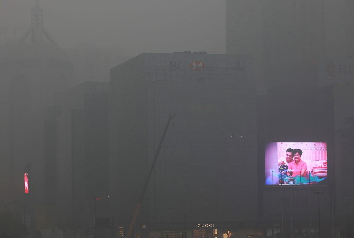 Saastesumu Kiinan Xianissa.