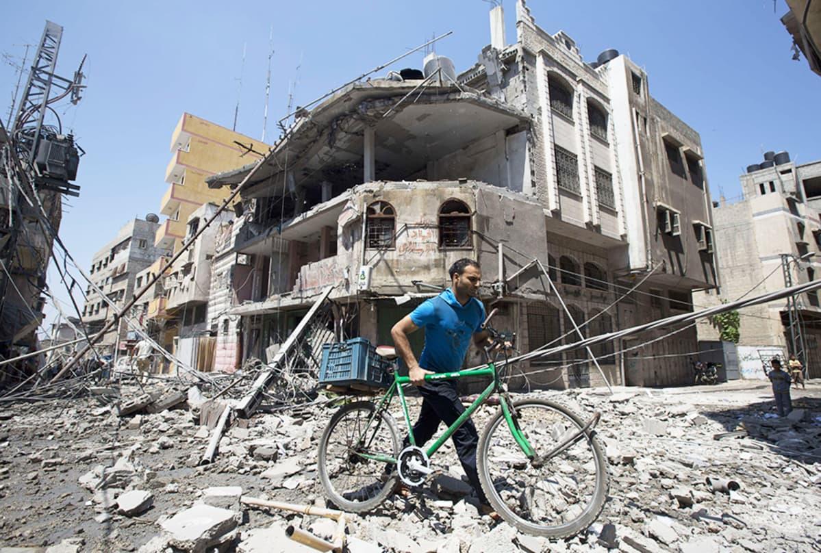 Näkymä Gazan kaupungissa 23. heinäkuuta.