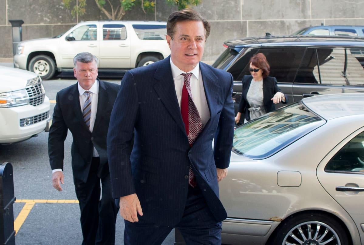 Paul Manafort saapui tänään oikeuden eteen Washingtonissa.