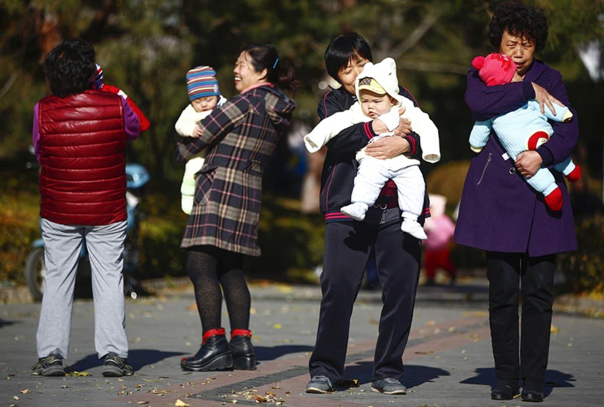 Näkymä pekingiläispuistoon 25. marraskuuta 201