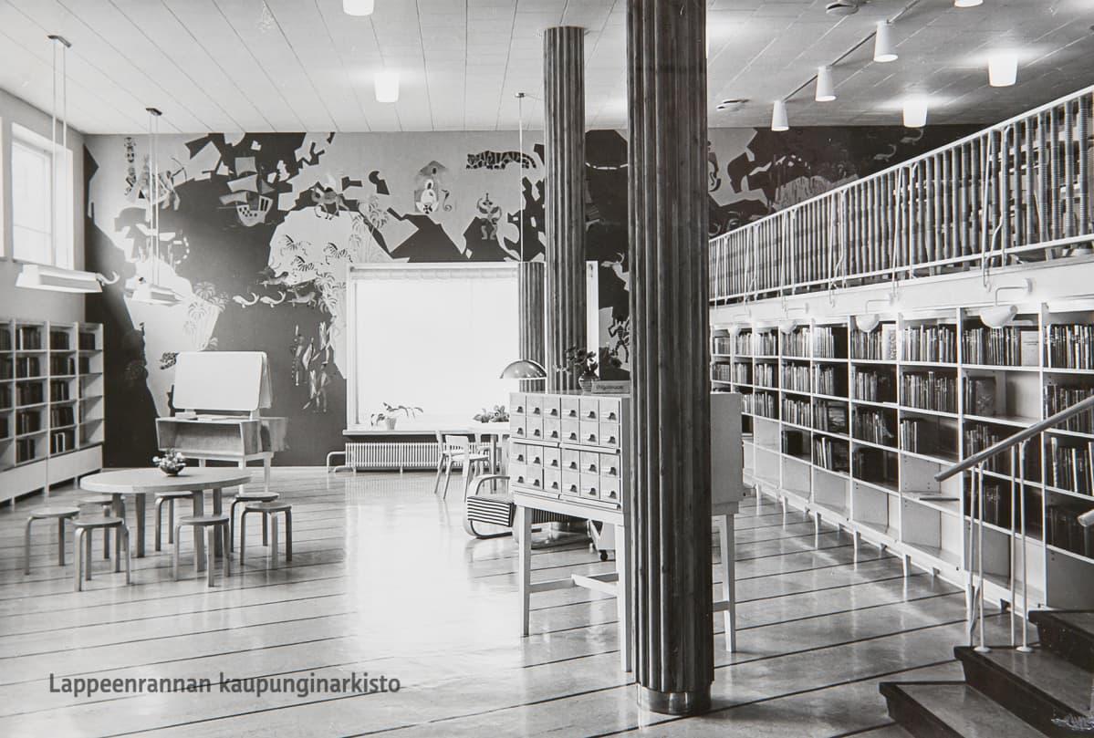Lauritsalan Kauppalankirjasto vuonna 1951.