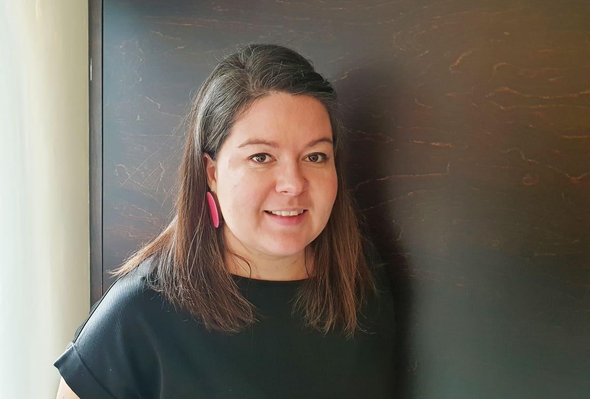 Keskustan Uudenmaan piirin puheenjohtaja Sonja Hällfors.