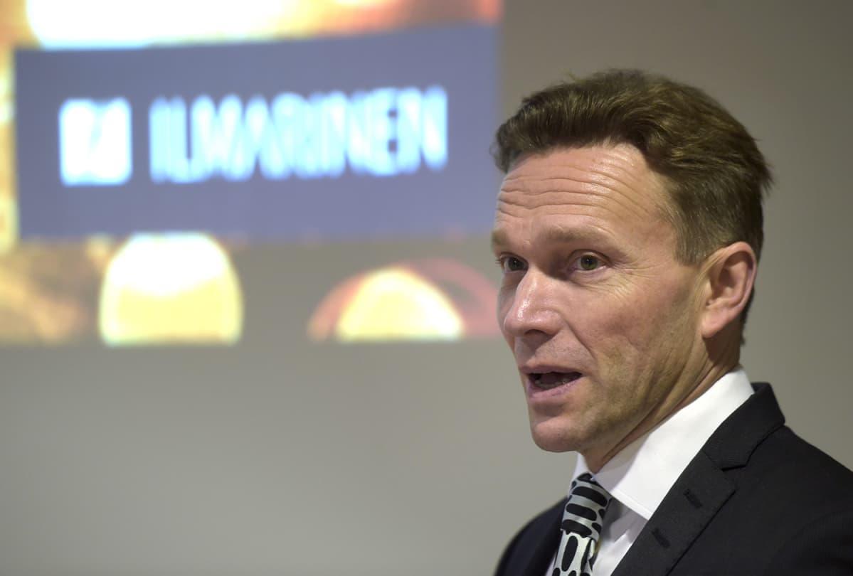 Työeläkevakuutusyhtiö Ilmarisen toimitusjohtaja Timo Ritakallio esitteli Ilmarisen tilinpäätöksen Helsingissä 19. helmikuuta 2016.