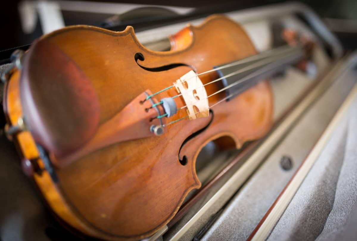 Linda Lampeniusen viulu.
