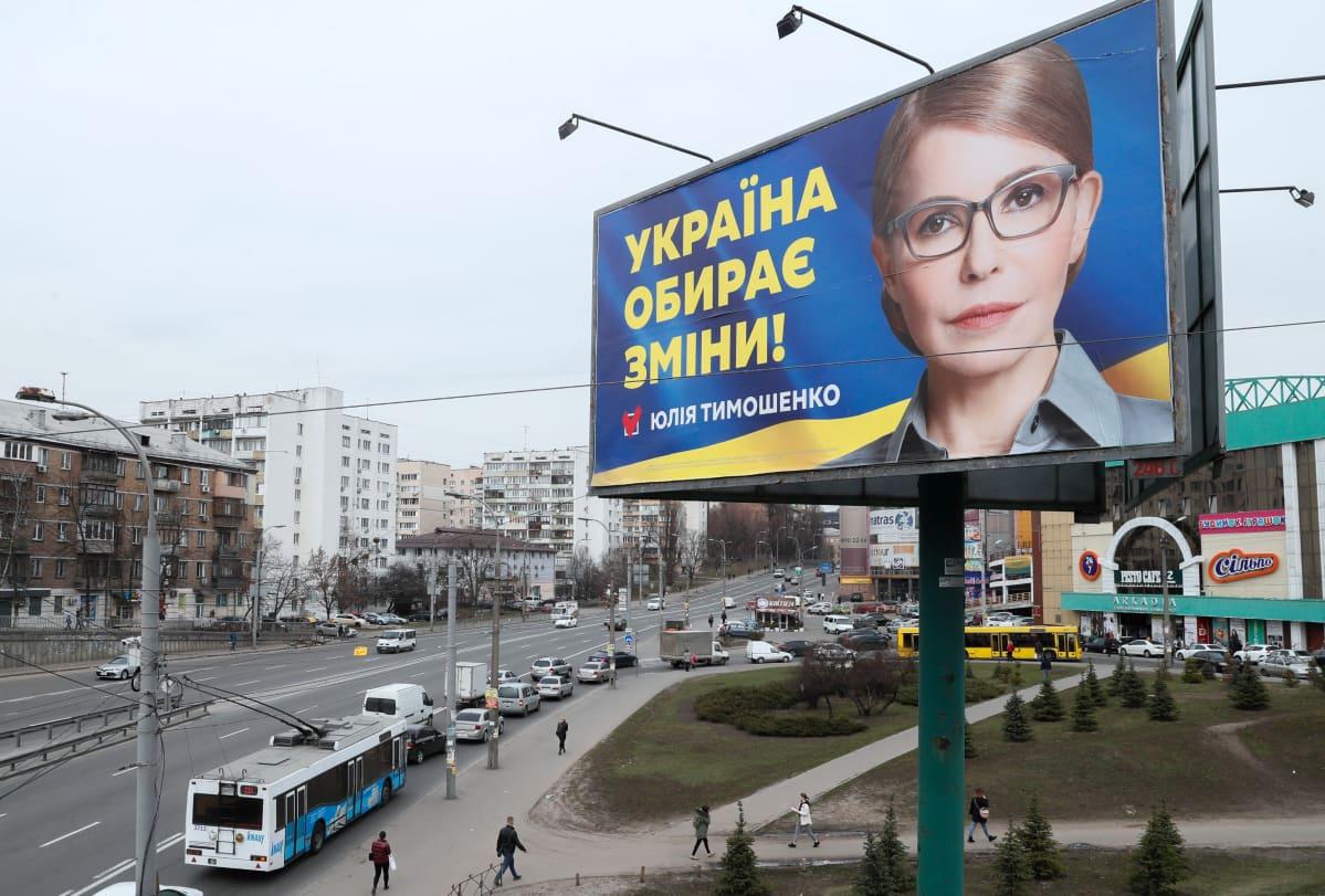 Julija Tymošenko ei ole paljastanut kuka hänen kampanjaansa rahoittaa.