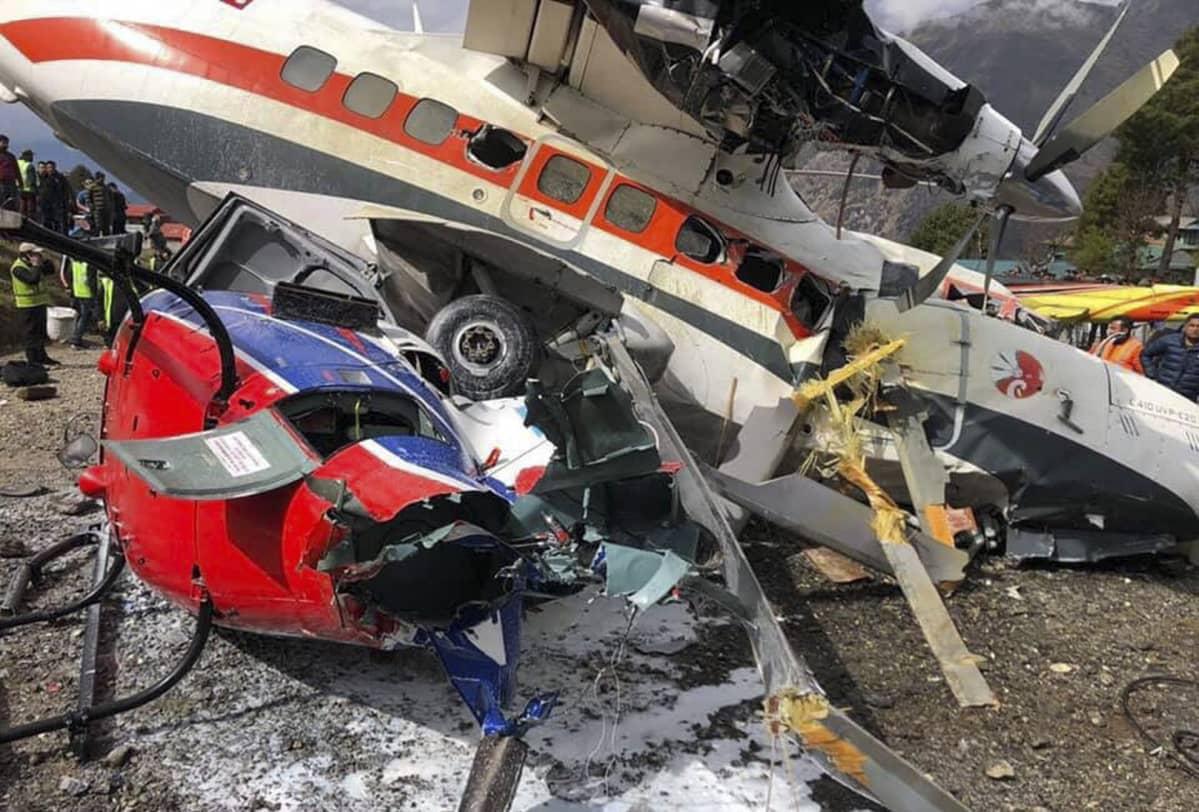 Näky Luklan lentokentällä oli lohduton onnettomuuden jälkeen.