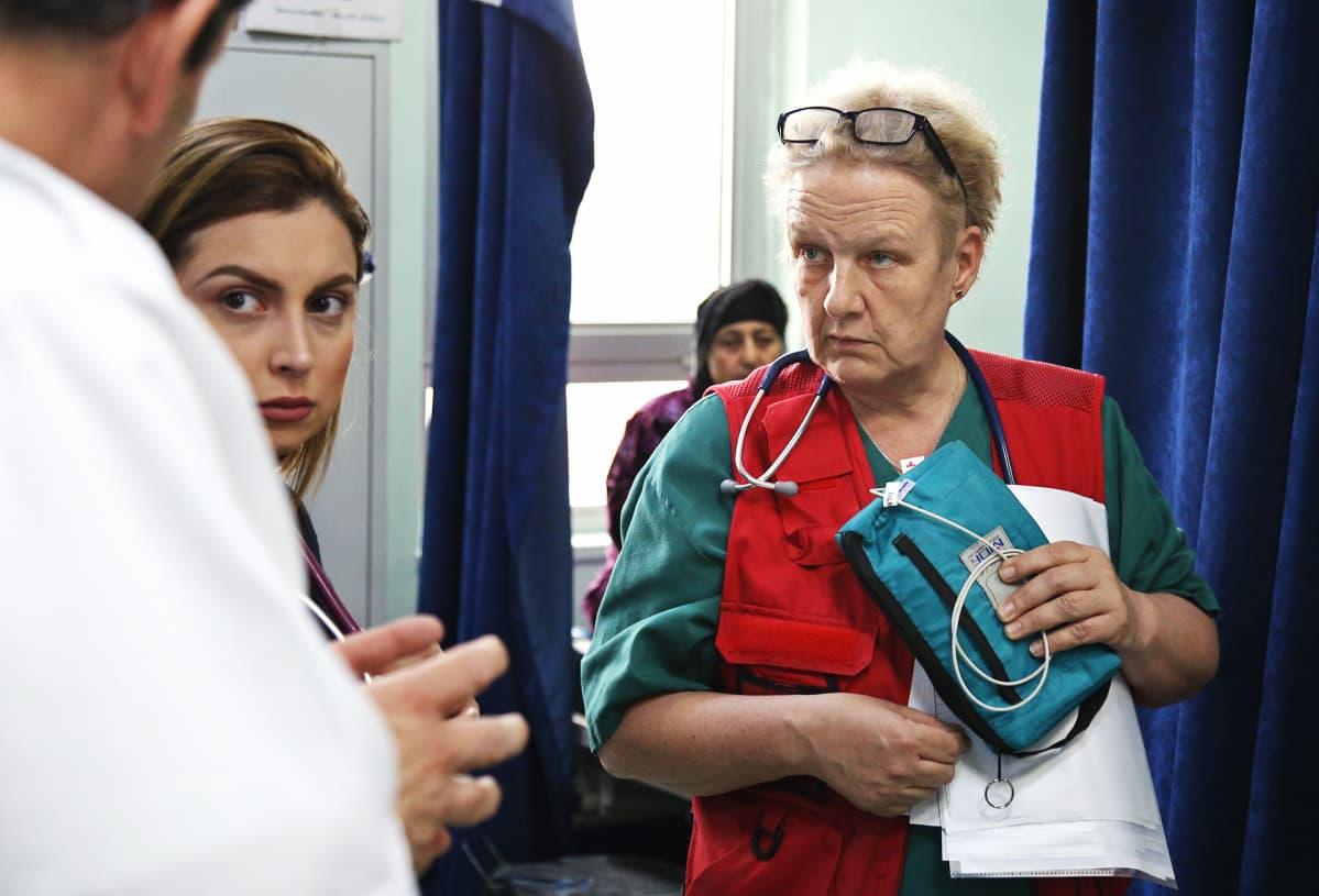 Sairaanhoitaja Kati Partanen.