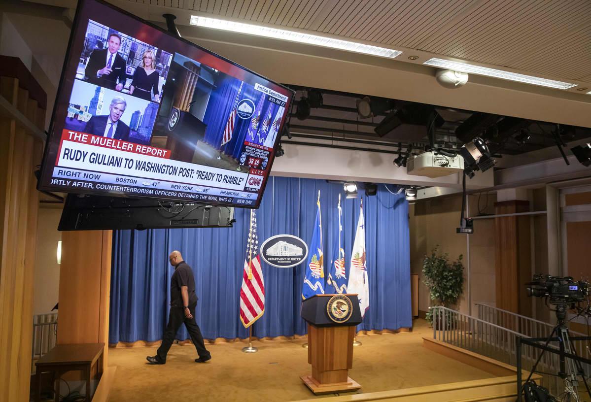 Muellerin Venäjä-raporttin julkistamistilaisuus.