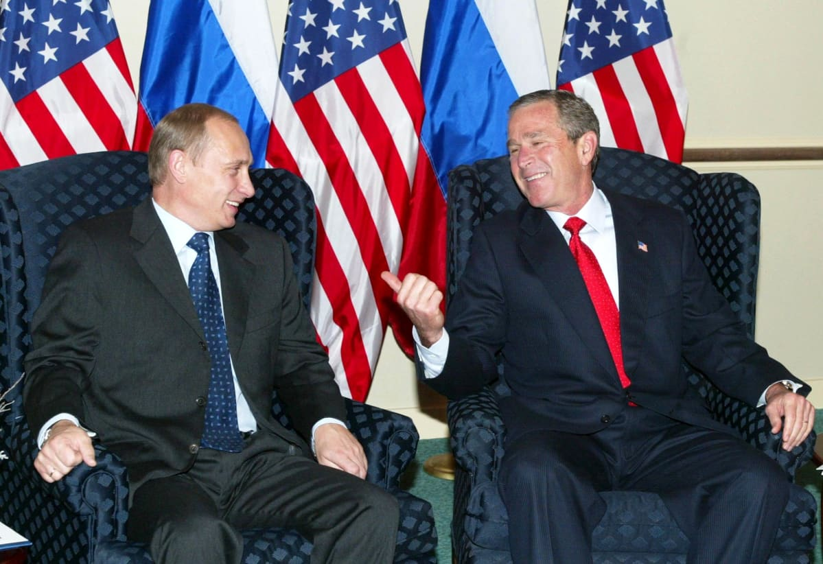 Vladimir Putin ja George W.Bush