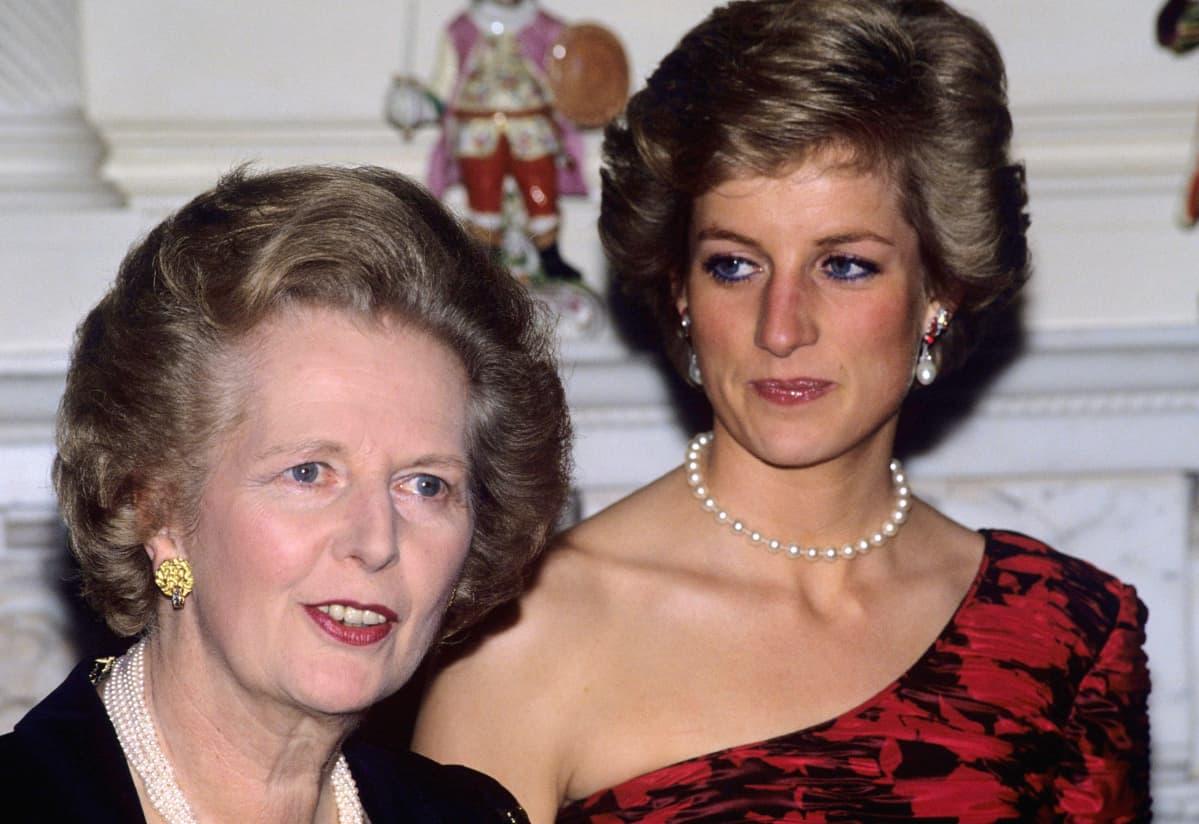 Margaret Thatcher ja prinsessa Diana.