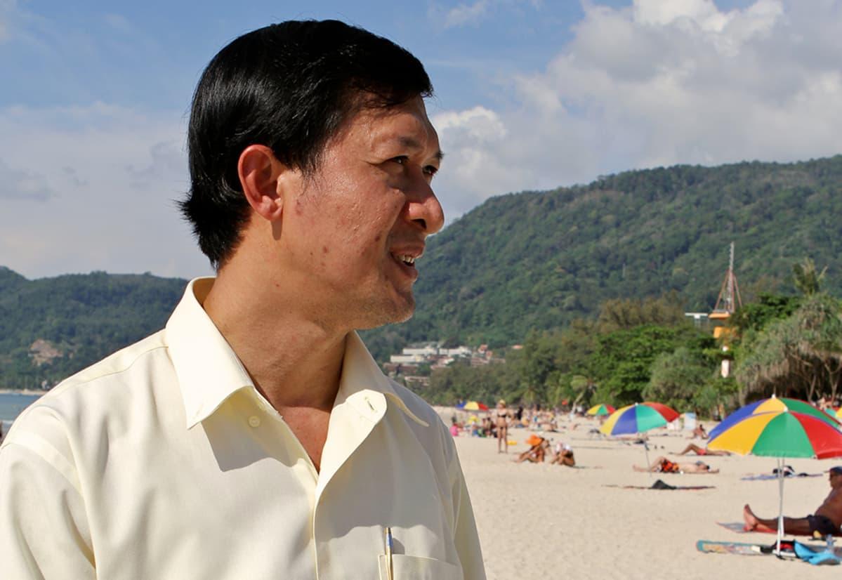 Phuketin katastrofin torjuntaviraston johtaja Trakul Thotham.