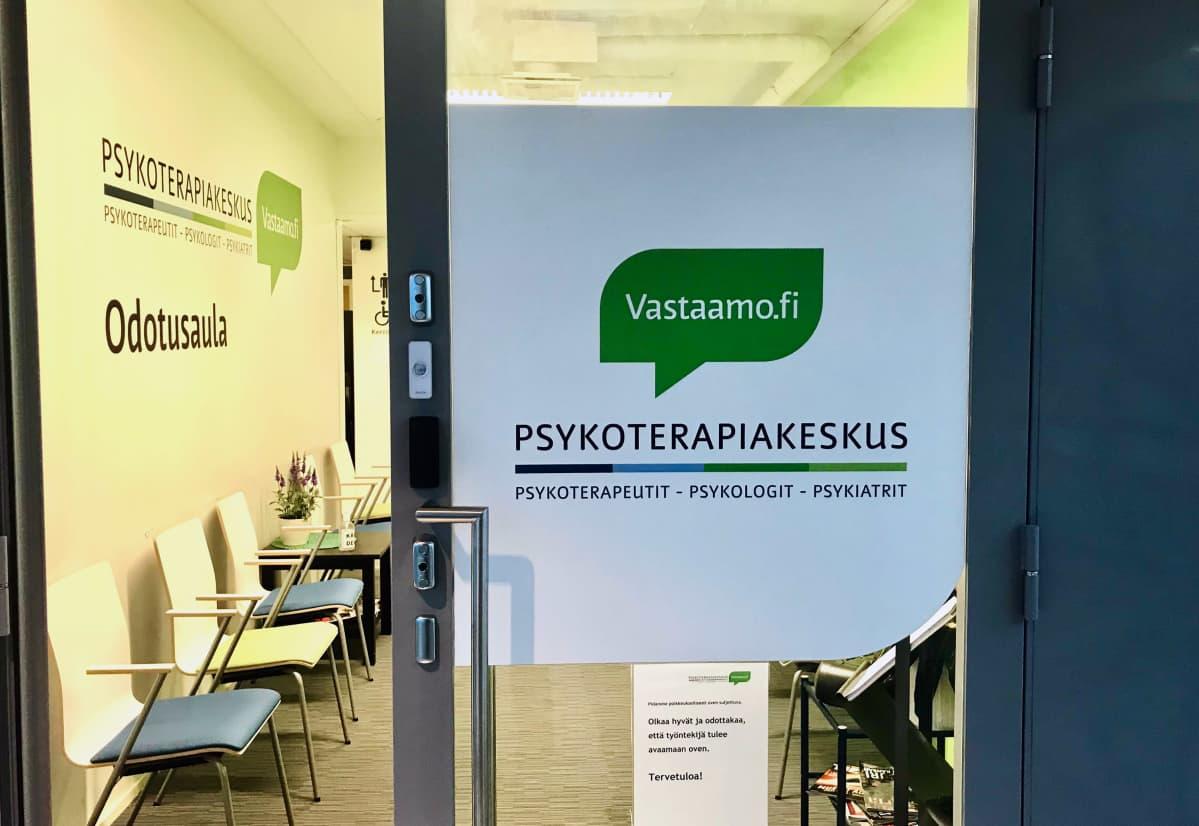 Psykoterapiakeskus Vastaamon toimitilat Tampereen keskustassa Tullintorin kauppakeskuksessa.