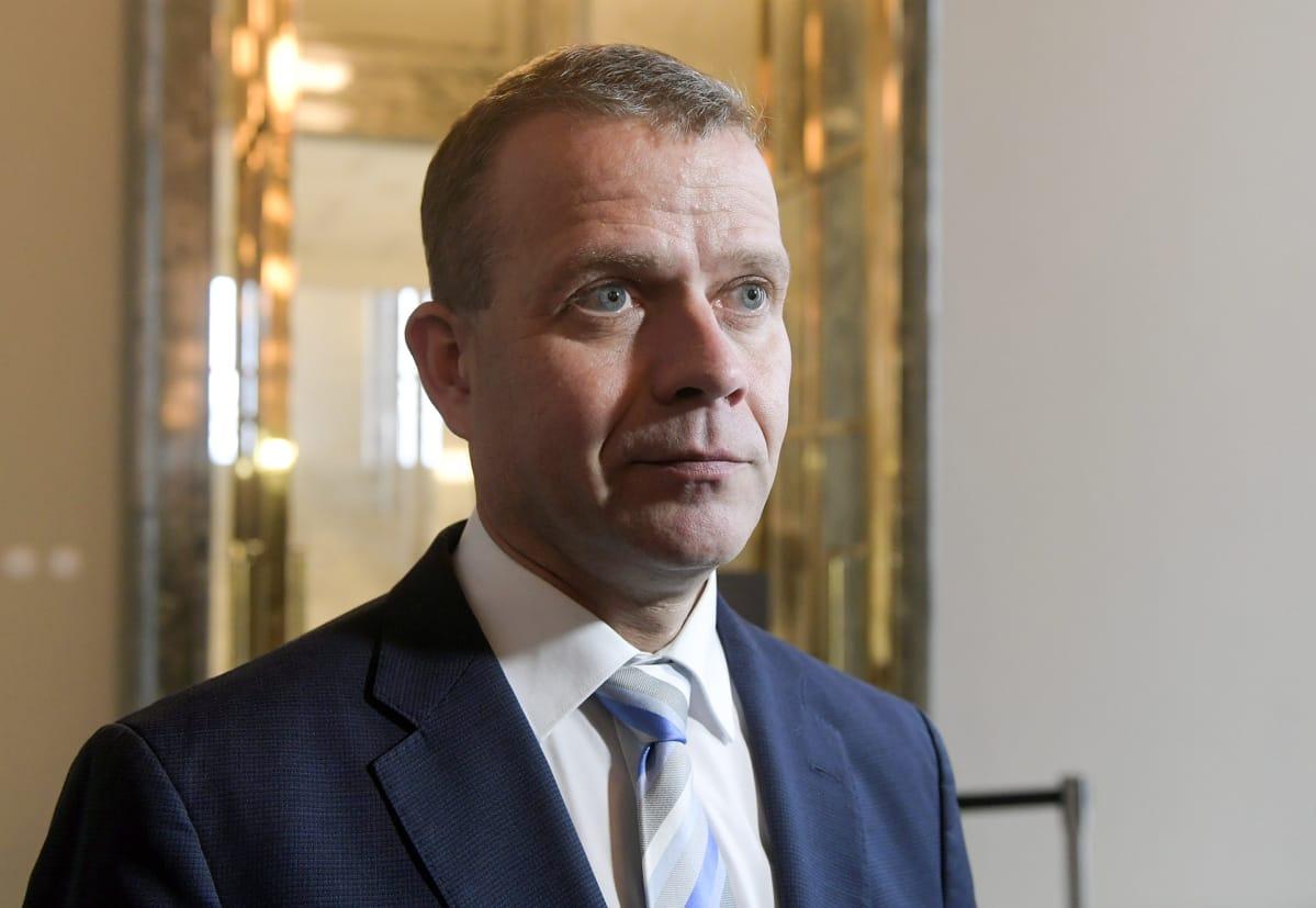 Kokoomuksen valtiovarainministeri Petteri Orpo eduskunnan täysistunnossa Helsingissä 17. lokakuuta