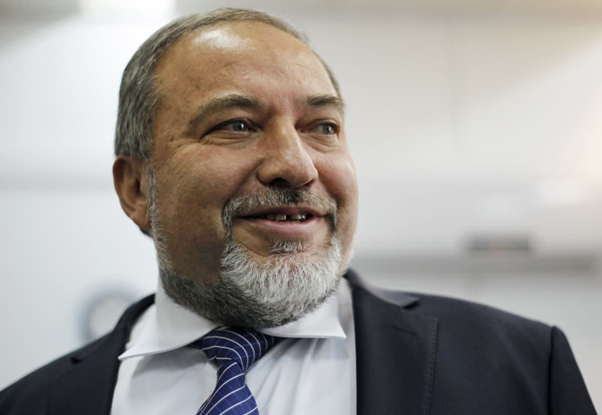 Avigdor Lieberman Jerusalemissa 17. helmikuuta.
