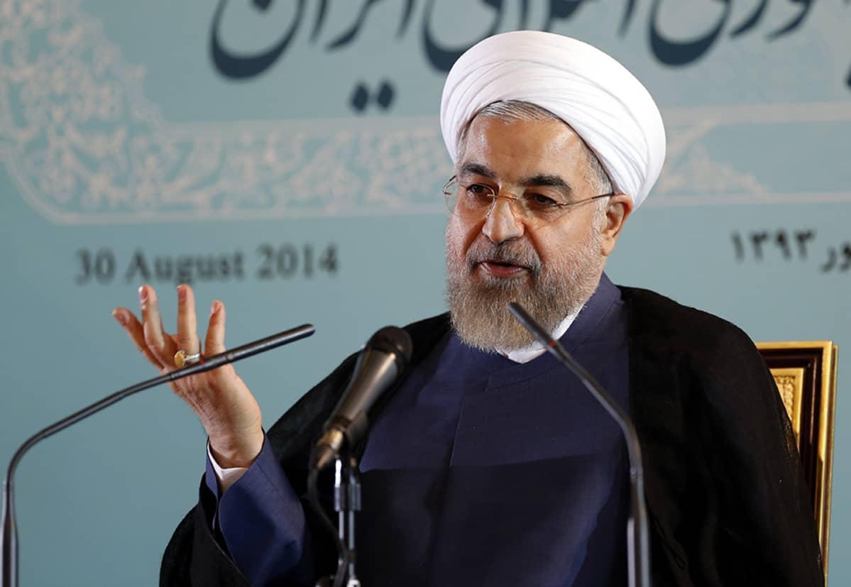 Iranin presidentti Hassan Ruhani.