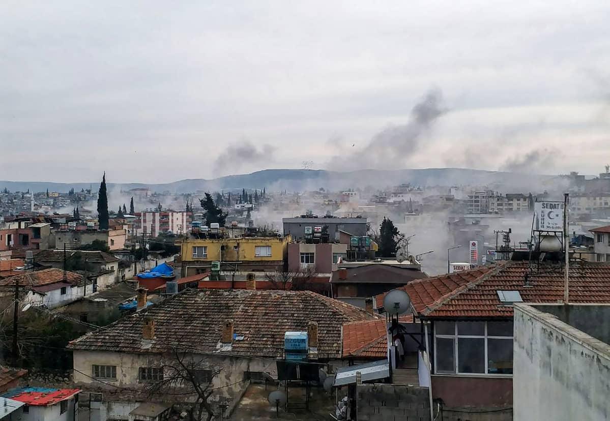 Raketti-iskun saanut Reyhanli kaupunki Turkin puolella rajaa