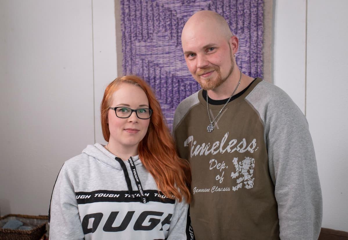 Untuvapakkauksen perustaneet Katja ja Nico Korhonen.
