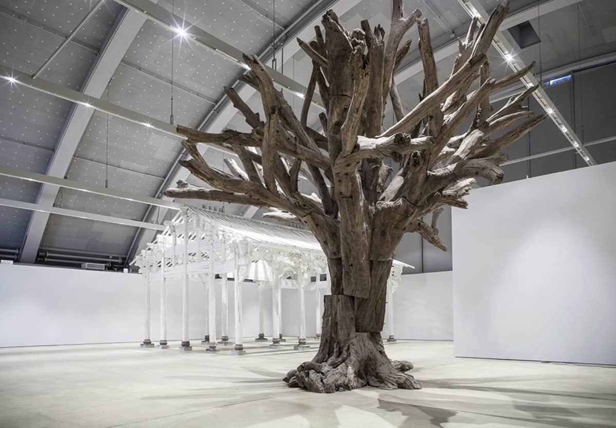 iso oksista rakennettu puu