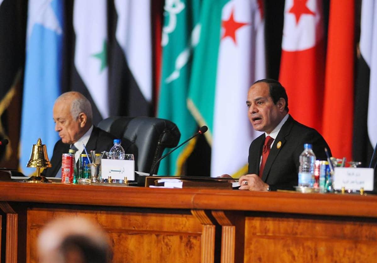 Nabil al-Arabi ja Abdel Fattah al-Sisi.
