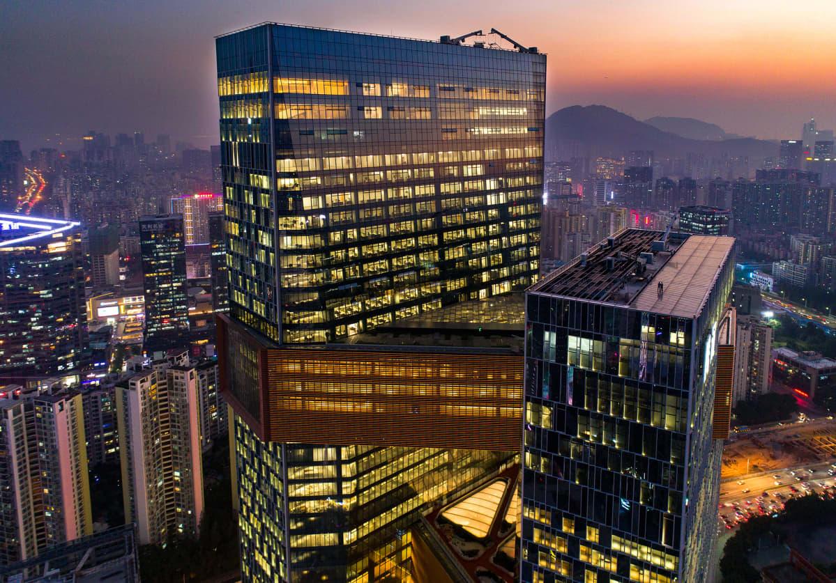 Tencent pääkonttori Shenzenissä, Kiinassa.