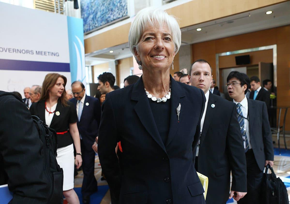 Kansainvälisen valuuttarahaston IMF:n pääjohtaja Christine Lagarde Ankarassa lauantaina.