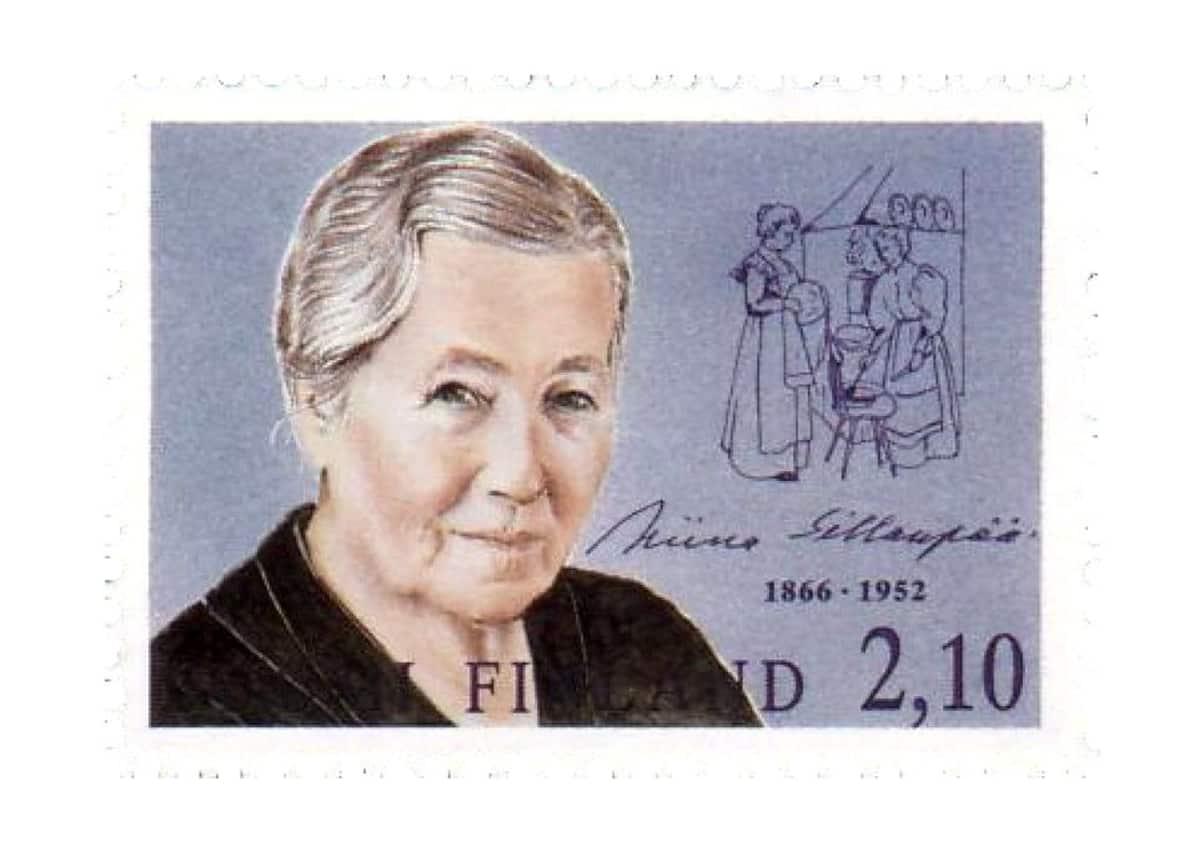 Miina Sillanpään muistoksi julkaistu postimerkki